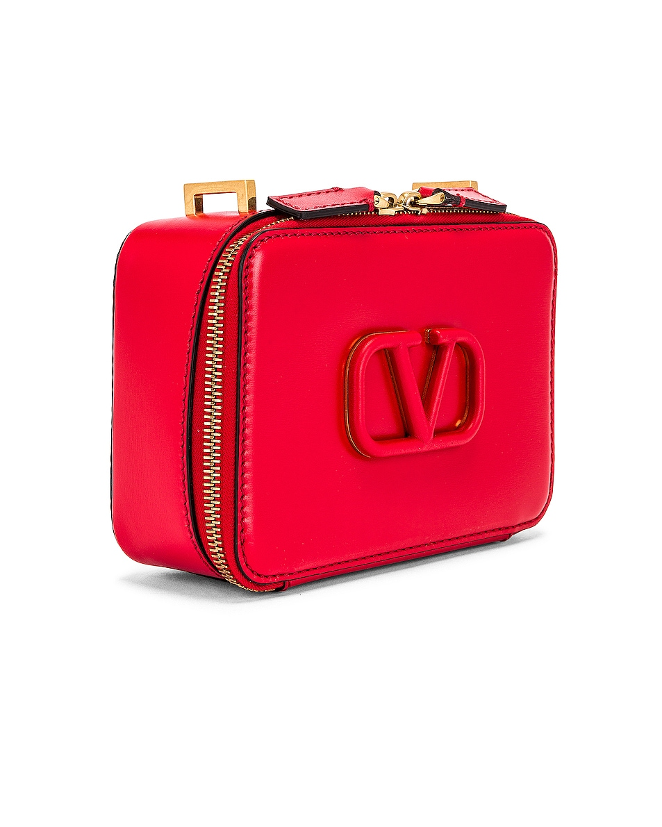 Image 4 of Valentino Small VSling Crossbody Bag in Rouge Pur