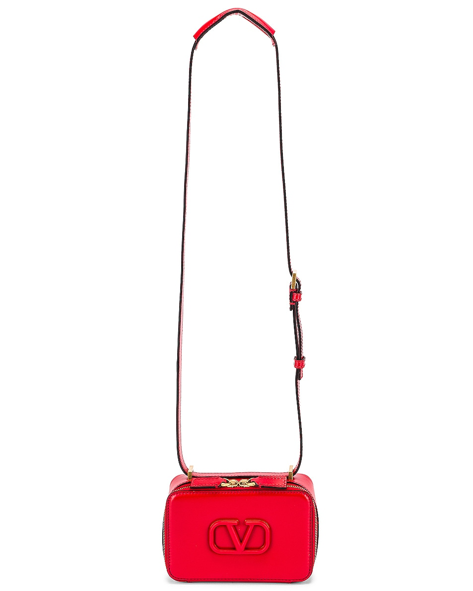 Image 6 of Valentino Small VSling Crossbody Bag in Rouge Pur