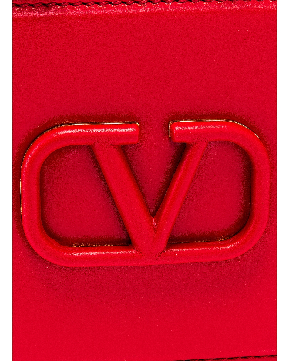Image 8 of Valentino Small VSling Crossbody Bag in Rouge Pur