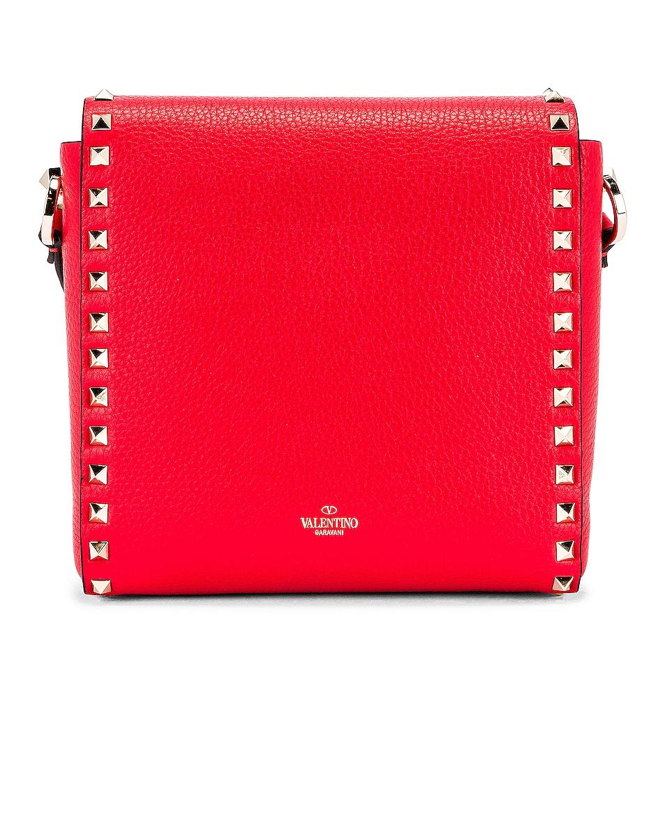 Image 3 of Valentino Rockstud Shoulder Bag in Red