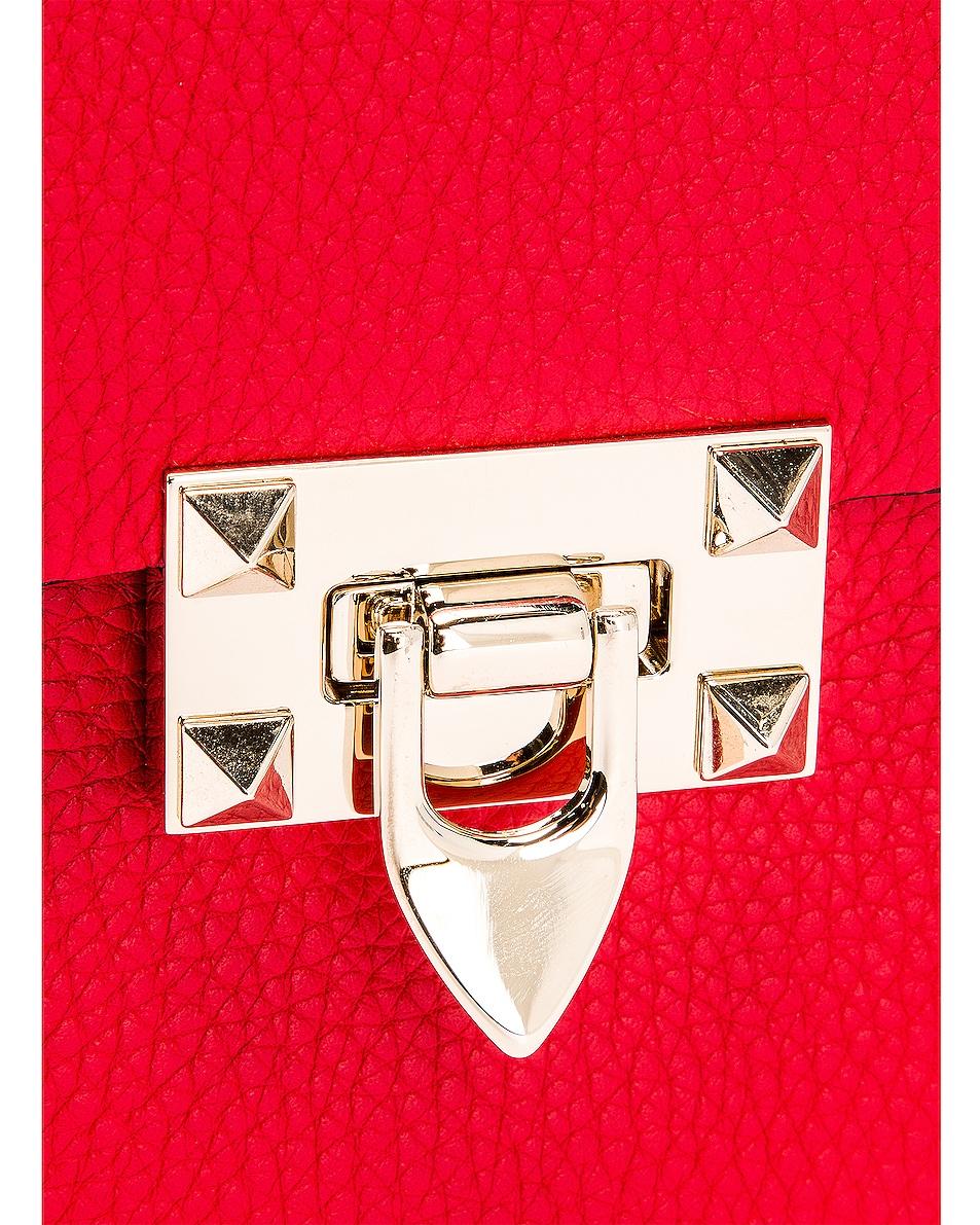Image 8 of Valentino Rockstud Shoulder Bag in Red