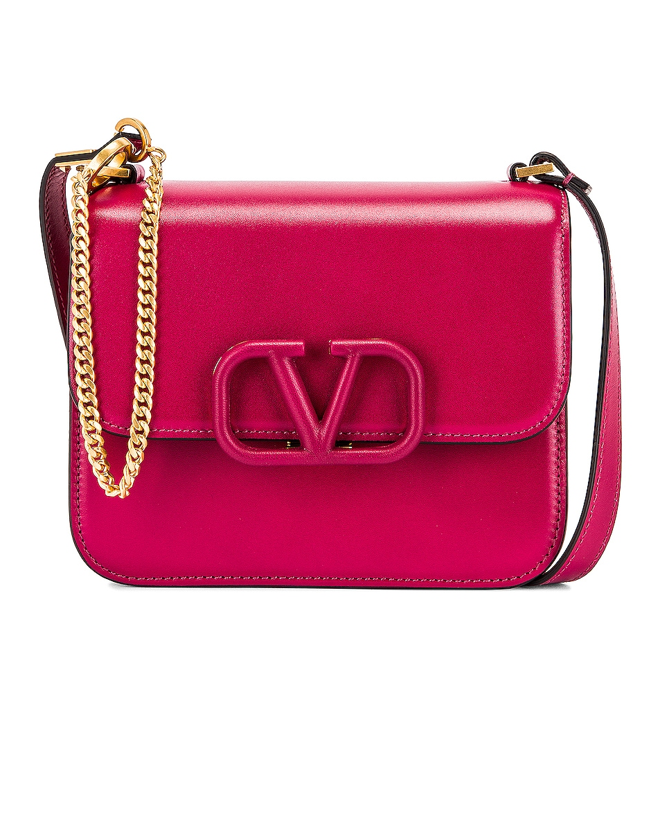 Image 1 of Valentino Small Sling Shoulder Bag in Raspberry Pink