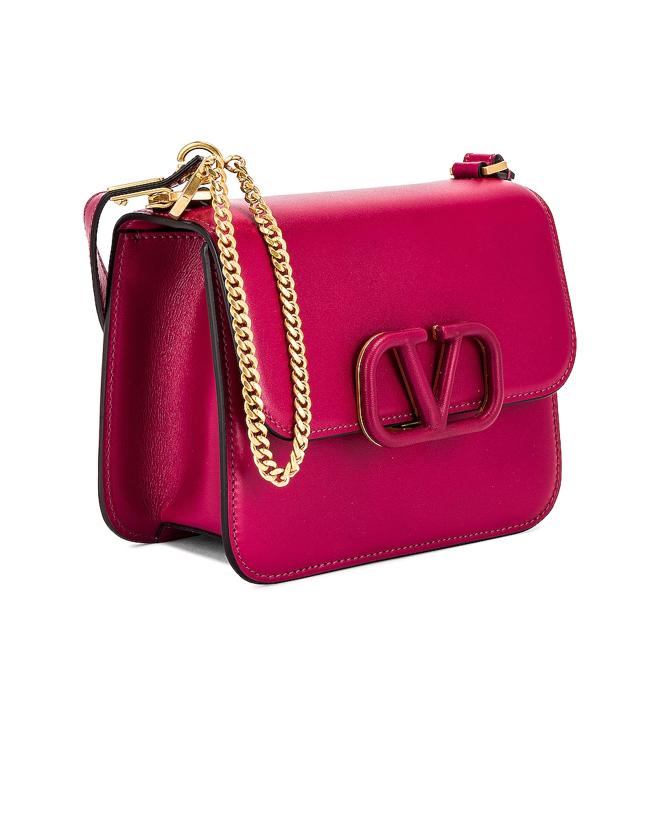 Image 4 of Valentino Small Sling Shoulder Bag in Raspberry Pink