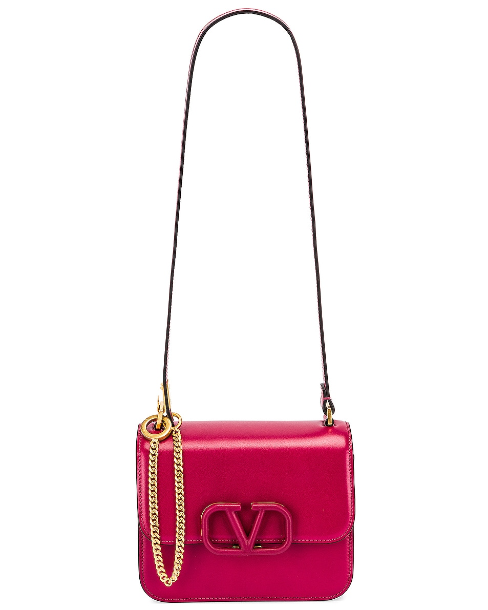 Image 6 of Valentino Small Sling Shoulder Bag in Raspberry Pink