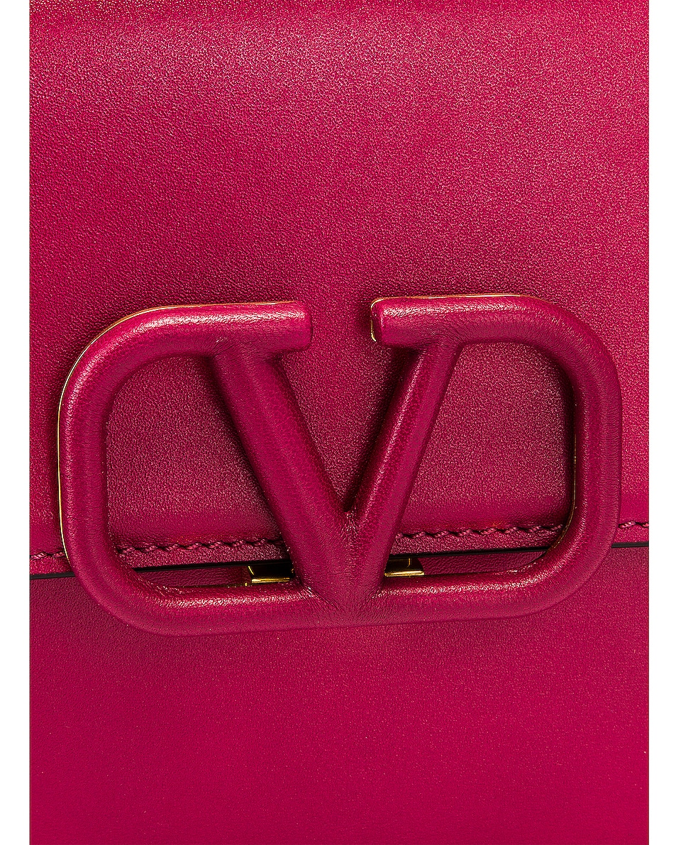 Image 8 of Valentino Small Sling Shoulder Bag in Raspberry Pink