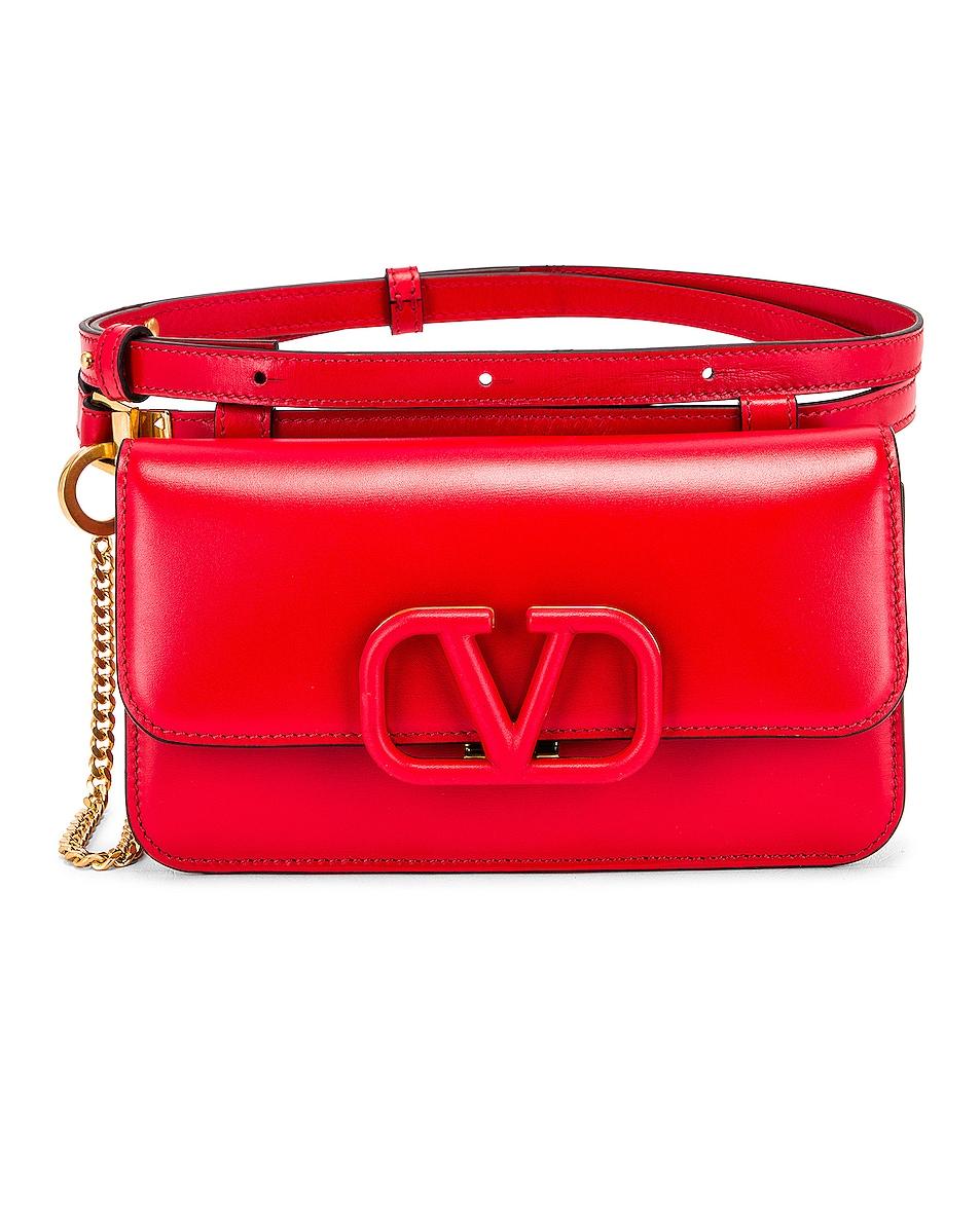 Image 1 of Valentino VSling Belt Bag in Red