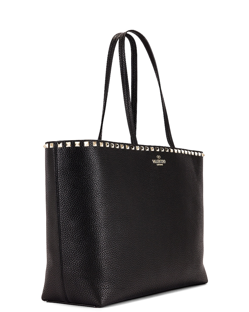 Image 4 of Valentino Rockstud Tote in Black