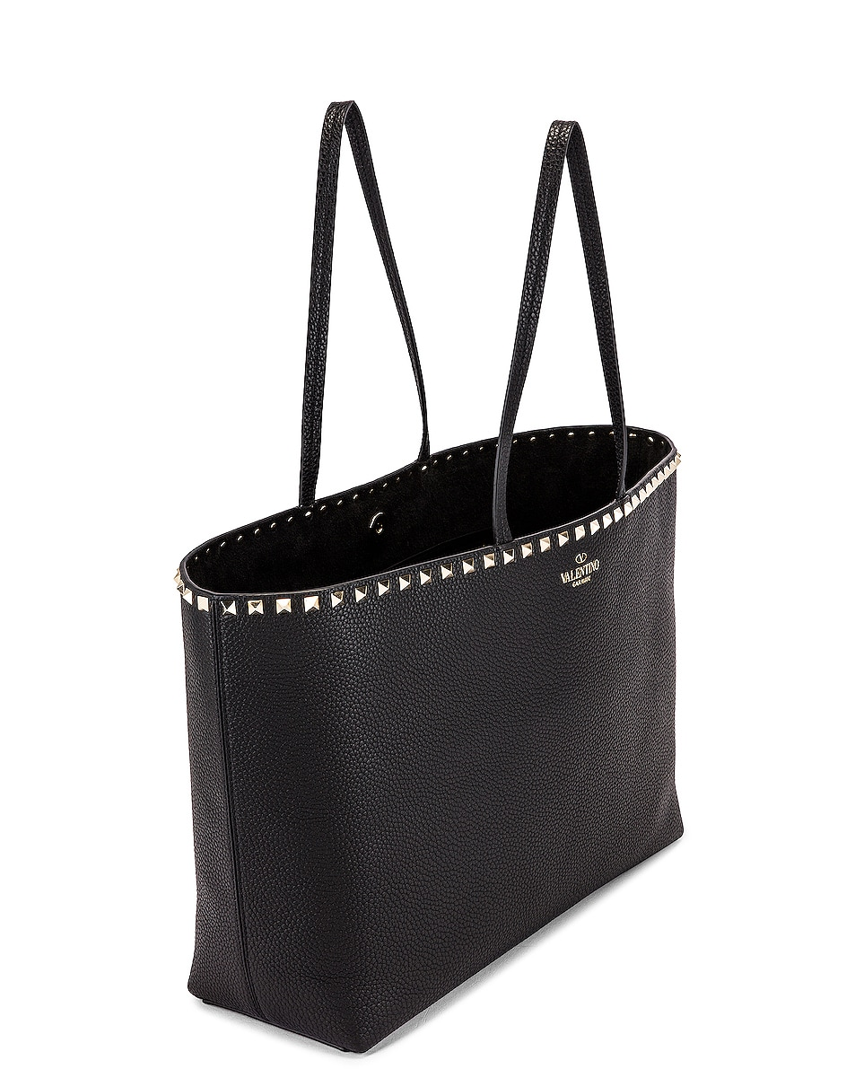 Image 5 of Valentino Rockstud Tote in Black