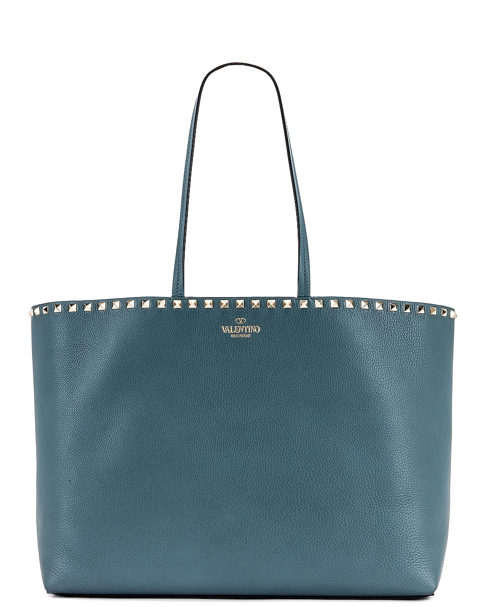 Image 1 of Valentino Rockstud Tote in Amadeus