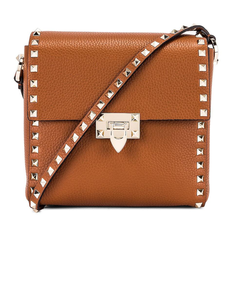 Image 1 of Valentino Garavani Rockstud Shoulder Bag in Selleria