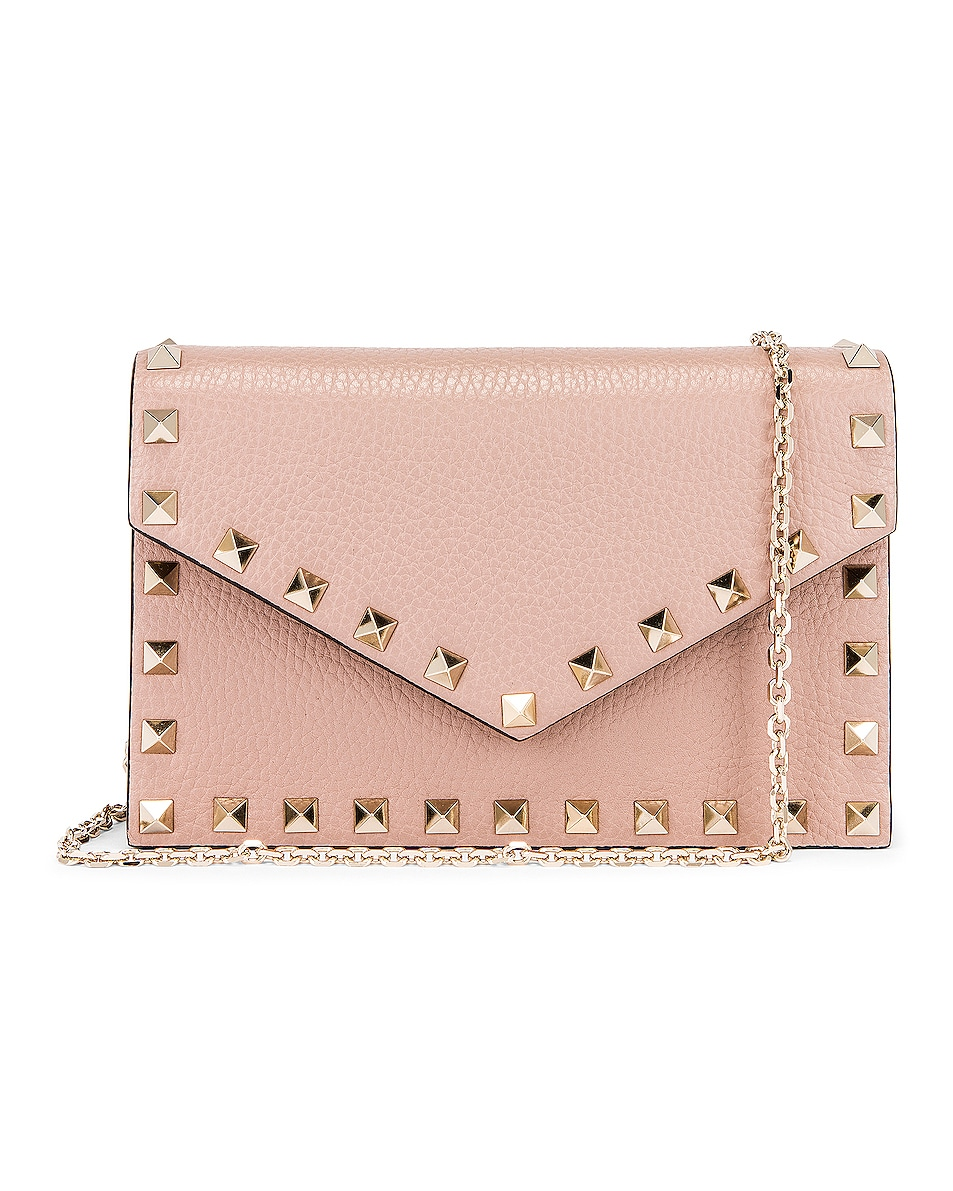 Image 1 of Valentino Rockstud Pouch in Poudre