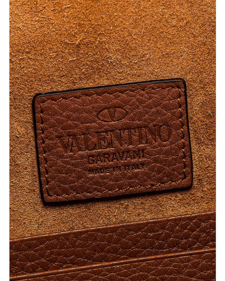 Image 6 of Valentino Medium Rockstud Flat Pouch in Selleria