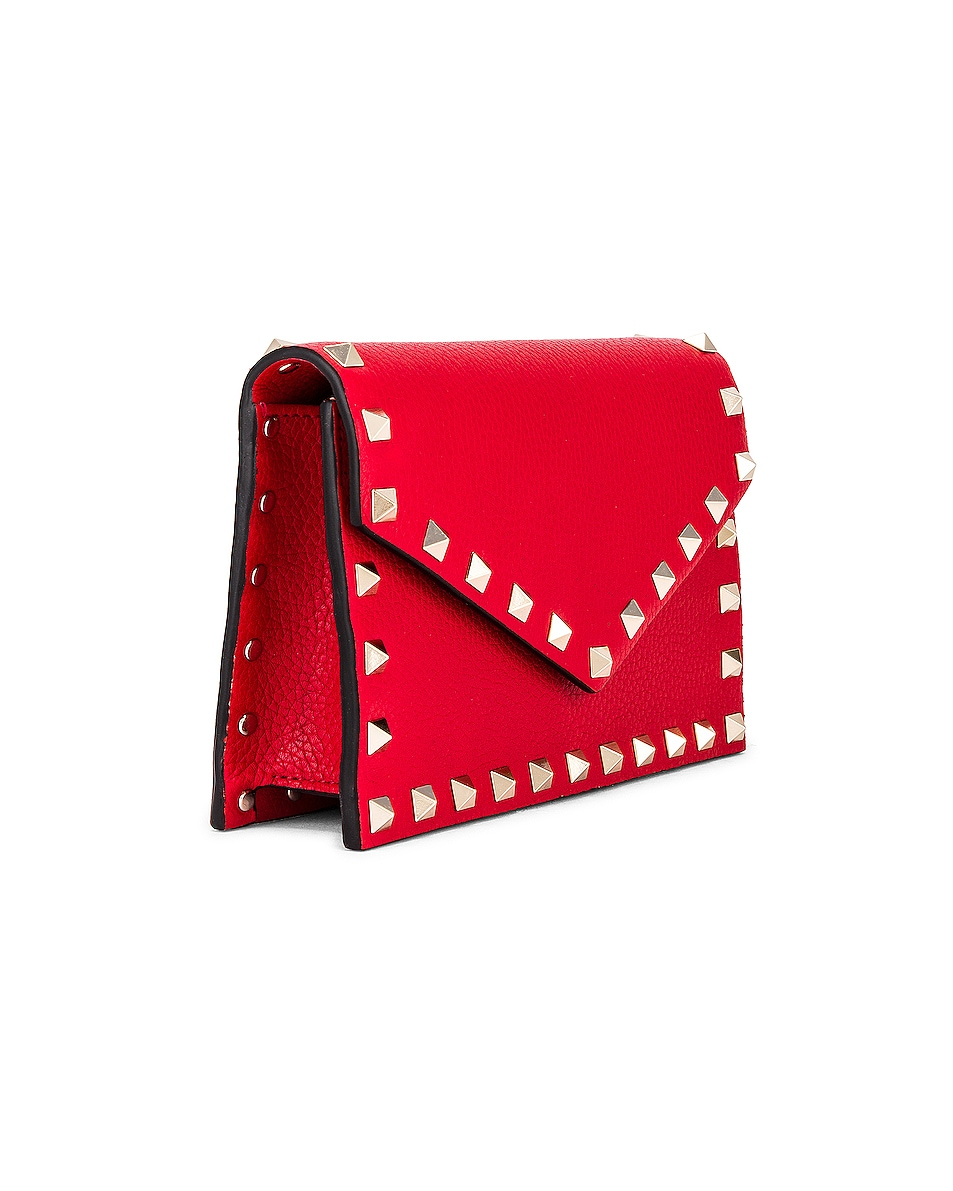 Image 4 of Valentino Rockstud Pouch in Red