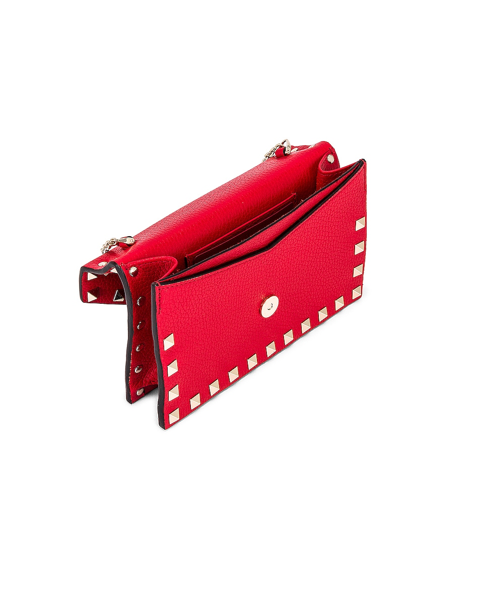 Image 5 of Valentino Rockstud Pouch in Red