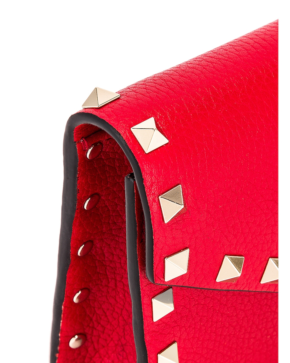 Image 8 of Valentino Rockstud Pouch in Red