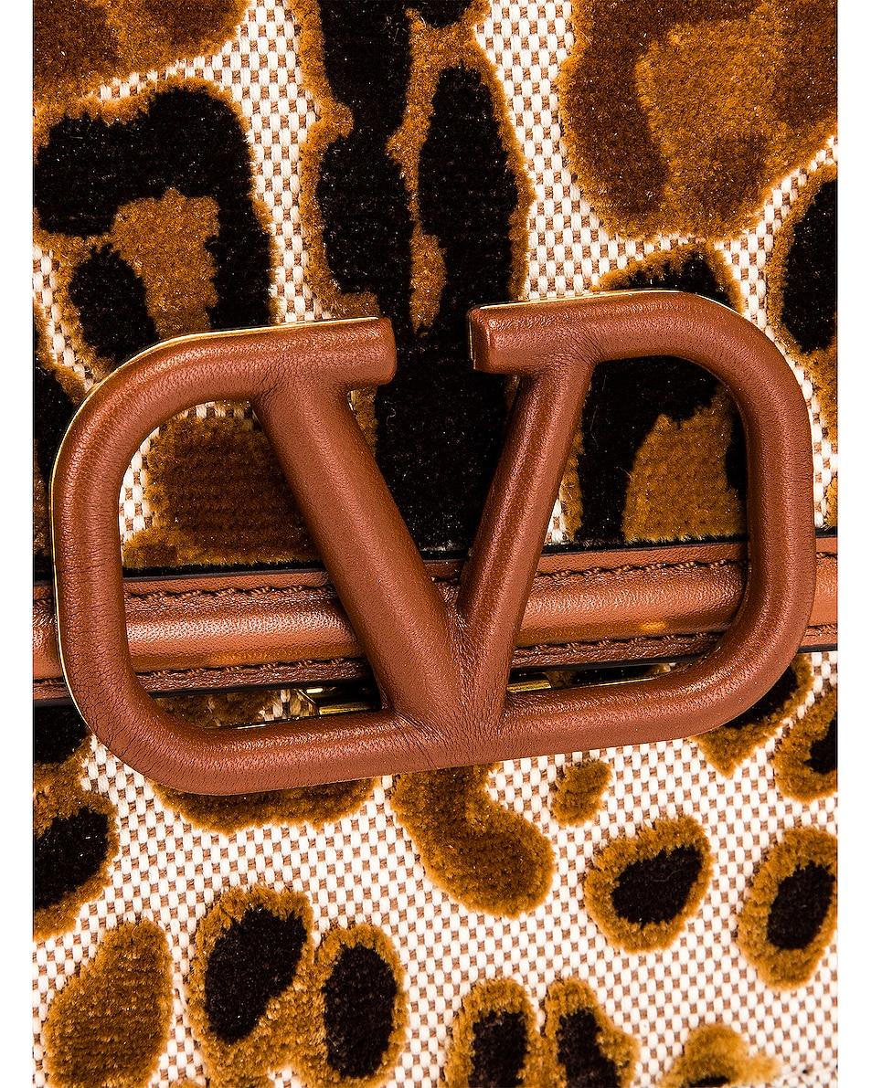 Image 8 of Valentino Small VSling Shoulder Bag in Natural & Selleria