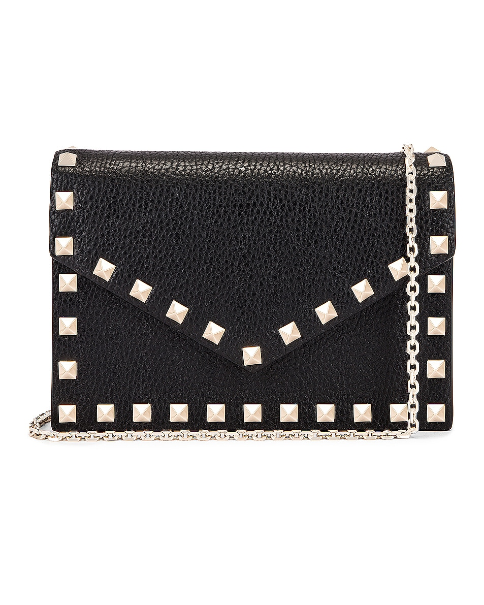 Image 1 of Valentino Rockstud Pouch in Black