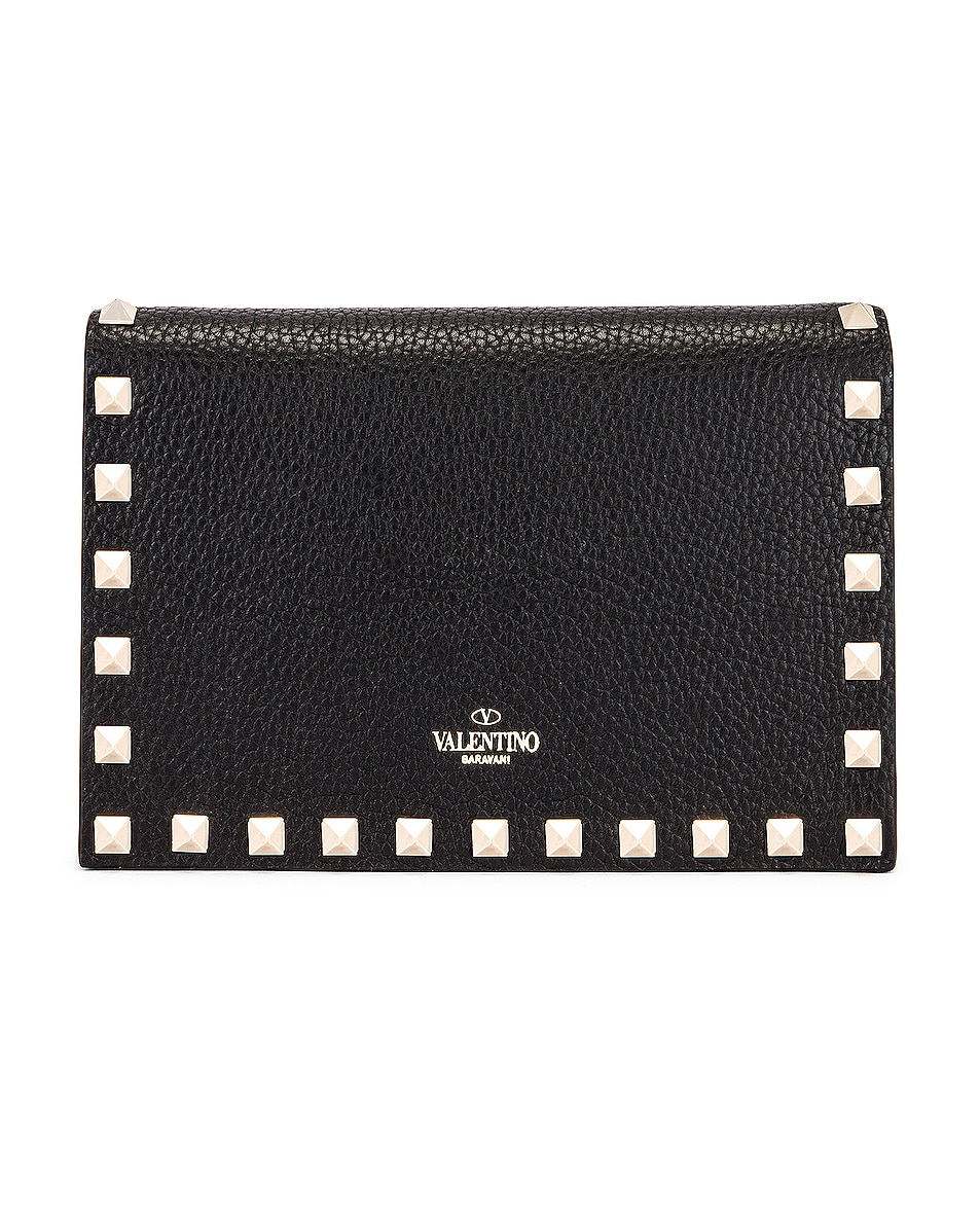 Image 3 of Valentino Rockstud Pouch in Black