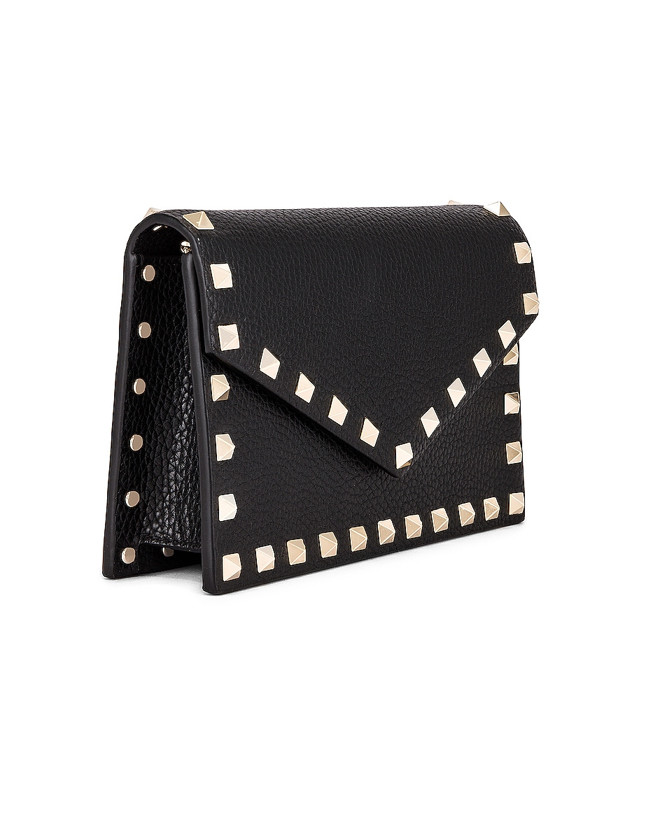 Image 4 of Valentino Rockstud Pouch in Black