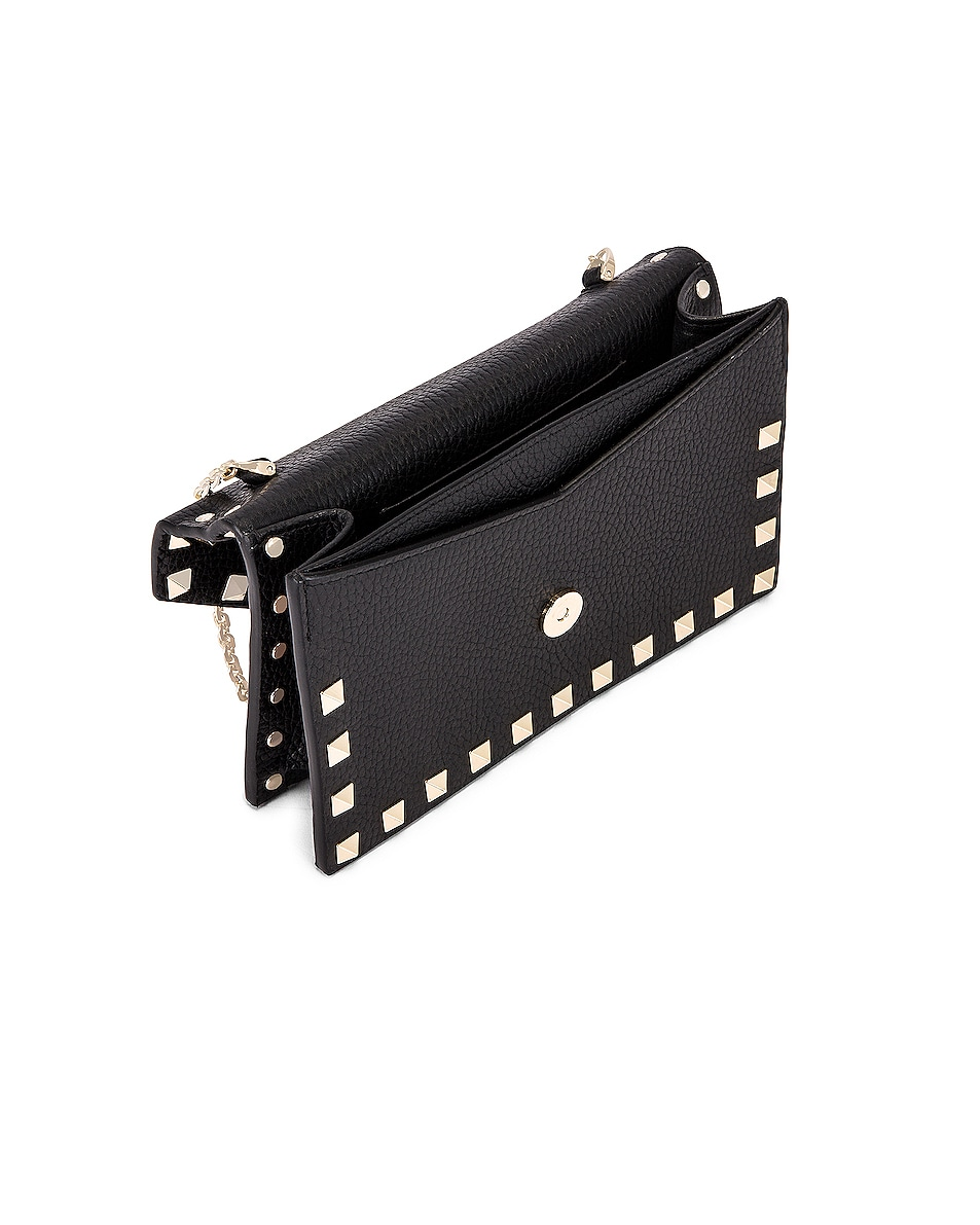 Image 5 of Valentino Rockstud Pouch in Black