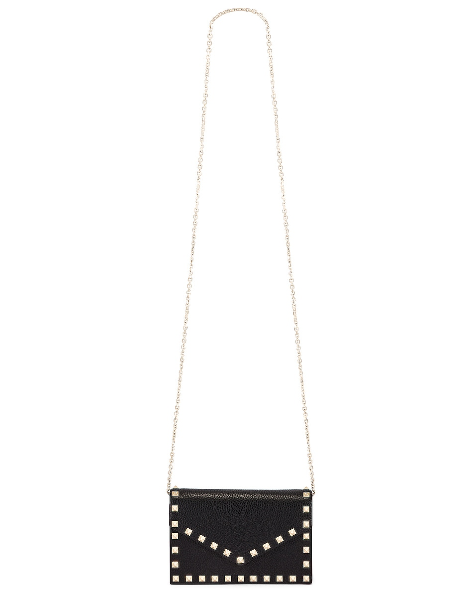 Image 6 of Valentino Rockstud Pouch in Black