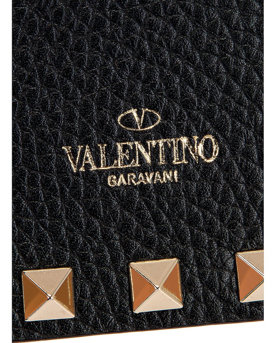 Image 7 of Valentino Rockstud Pouch in Black