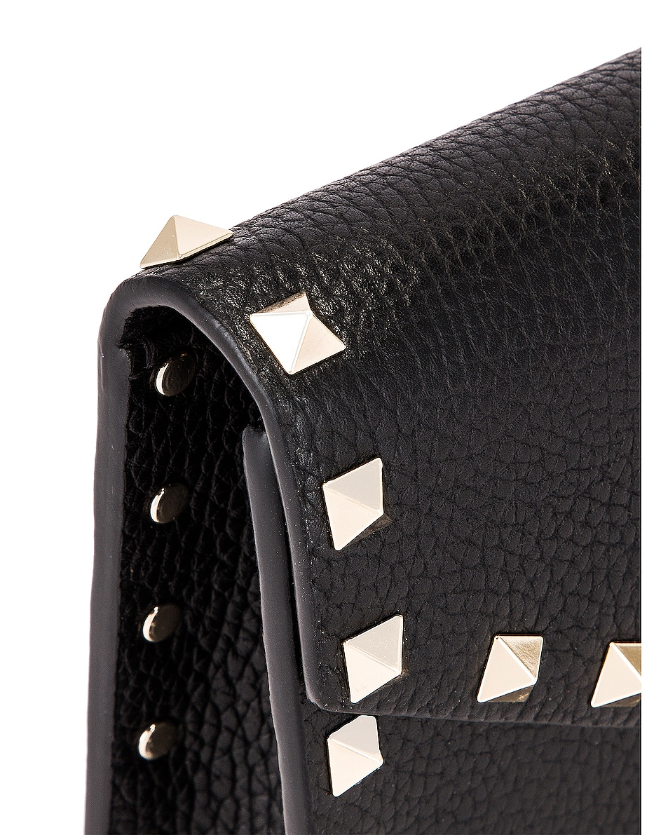 Image 8 of Valentino Rockstud Pouch in Black