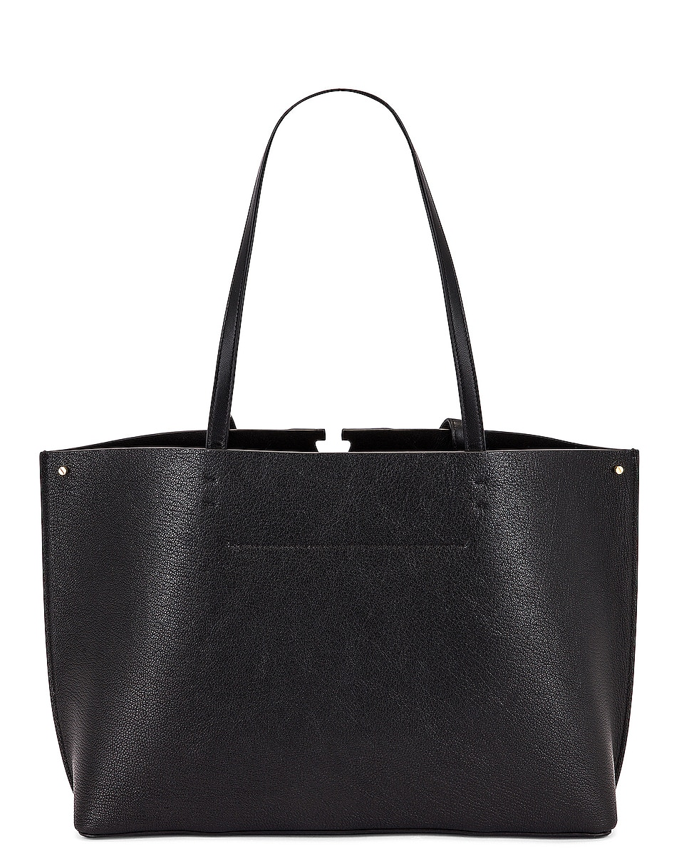 Image 3 of Valentino Small VLogo Tote in Black