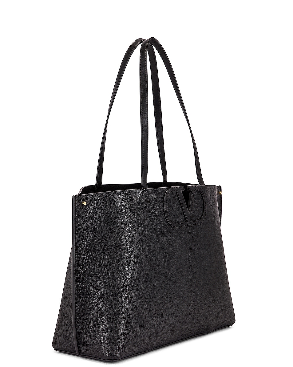 Image 4 of Valentino Small VLogo Tote in Black