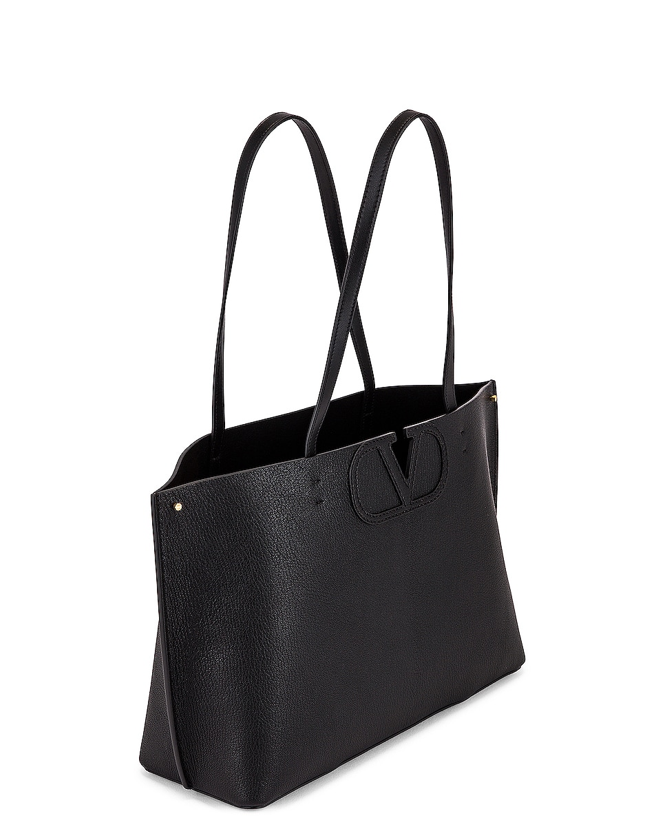 Image 5 of Valentino Small VLogo Tote in Black