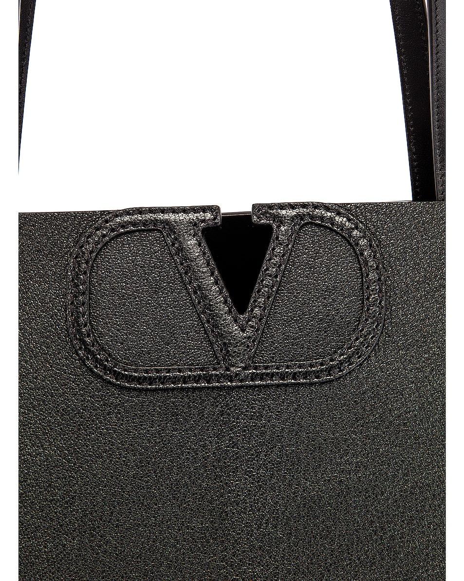 Image 7 of Valentino Small VLogo Tote in Black