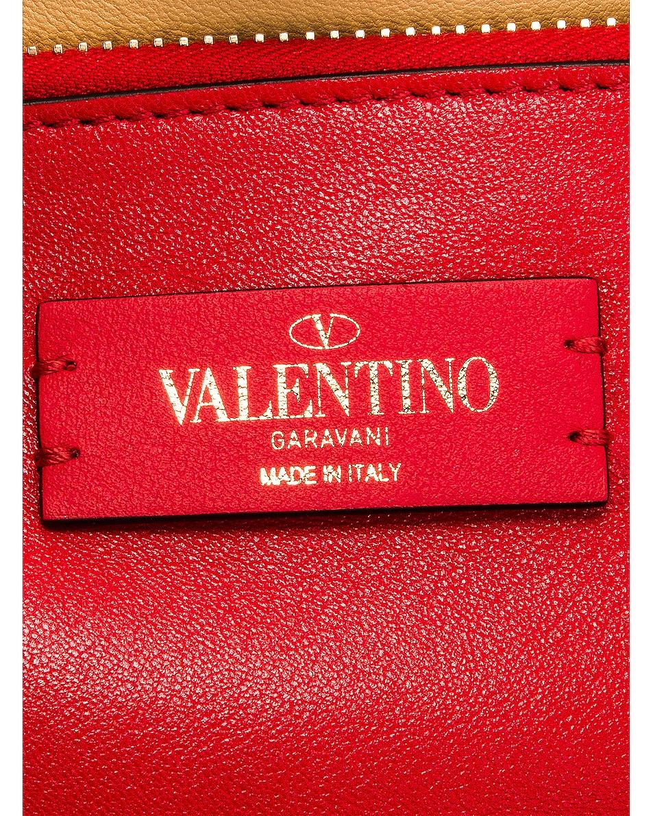 Image 7 of Valentino Small Rockstud Tote in Selleria