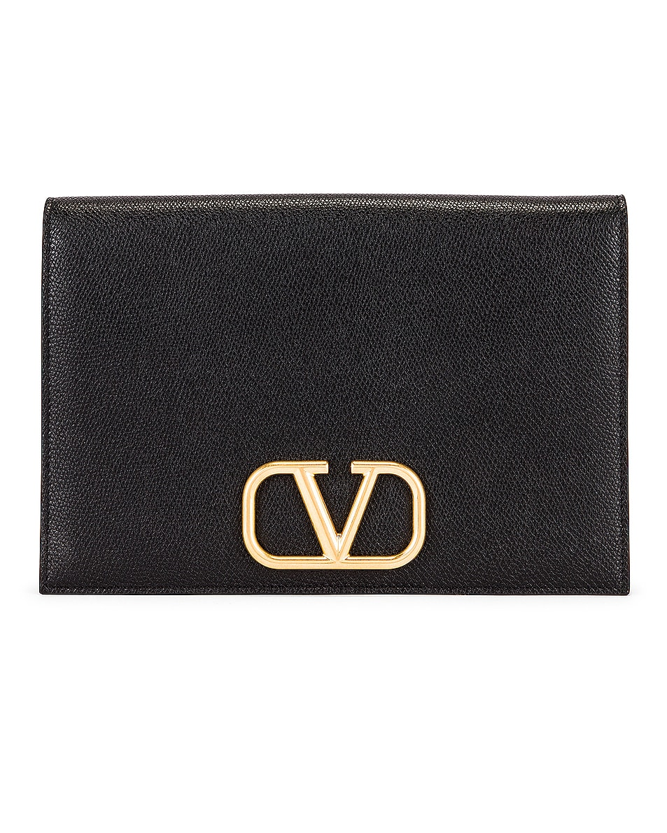 Image 1 of Valentino Medium VLogo Pouch in Black