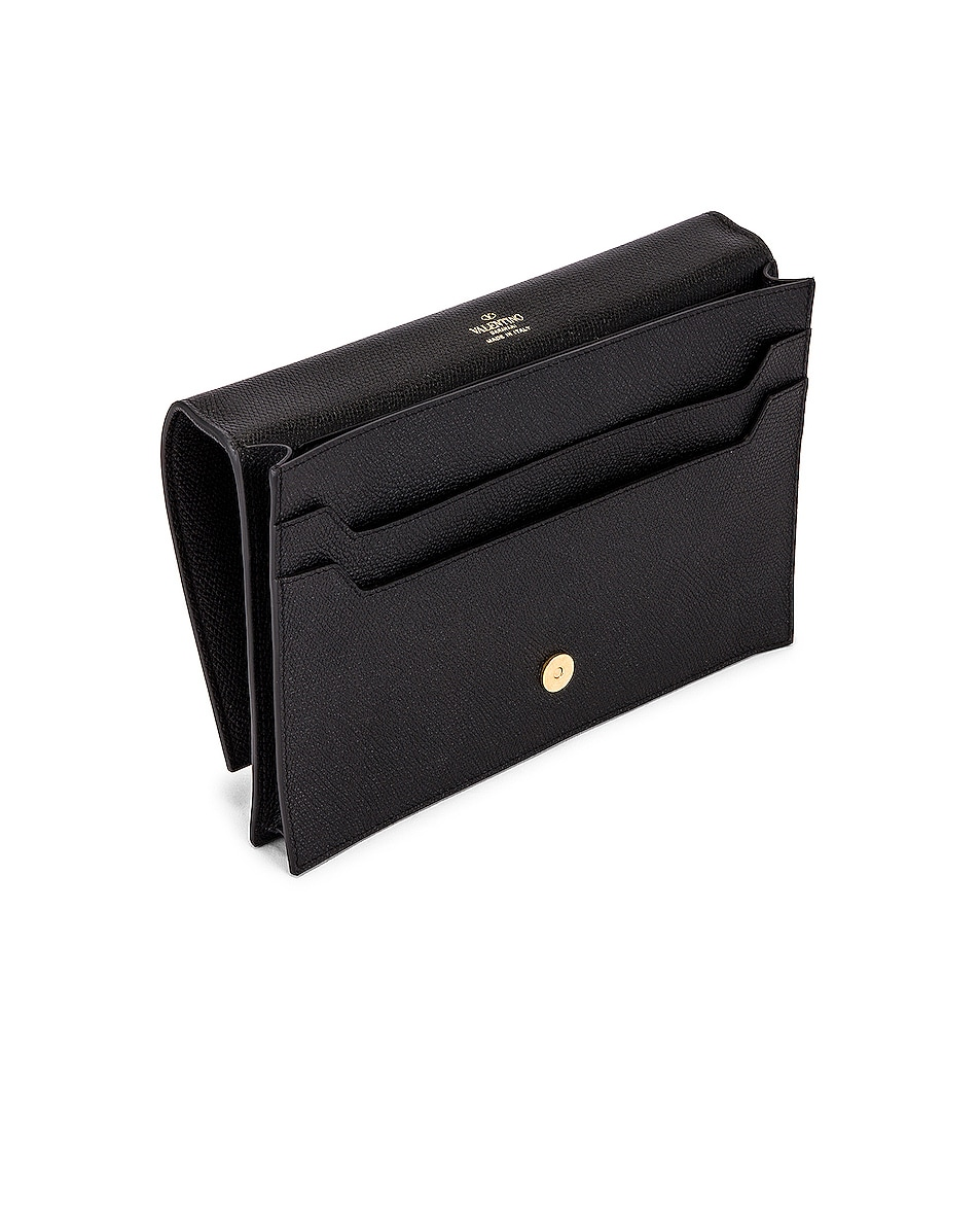 Image 5 of Valentino Medium VLogo Pouch in Black