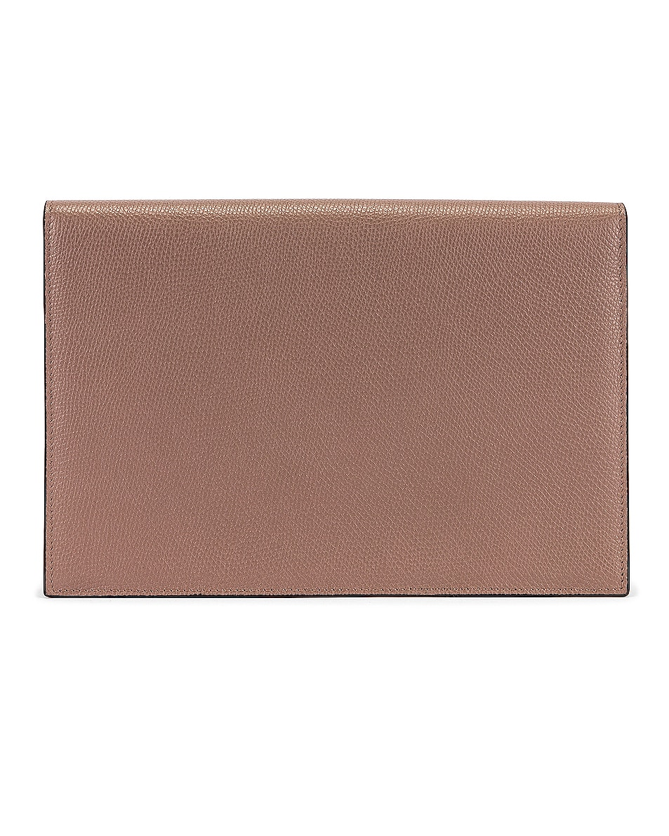 Image 3 of Valentino Medium VLogo Pouch in Clay