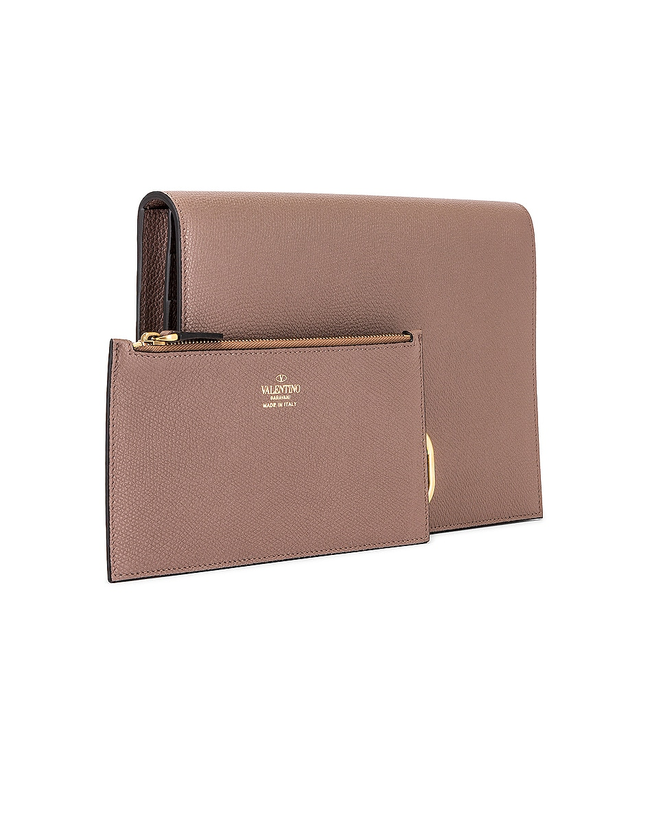 Image 4 of Valentino Medium VLogo Pouch in Clay
