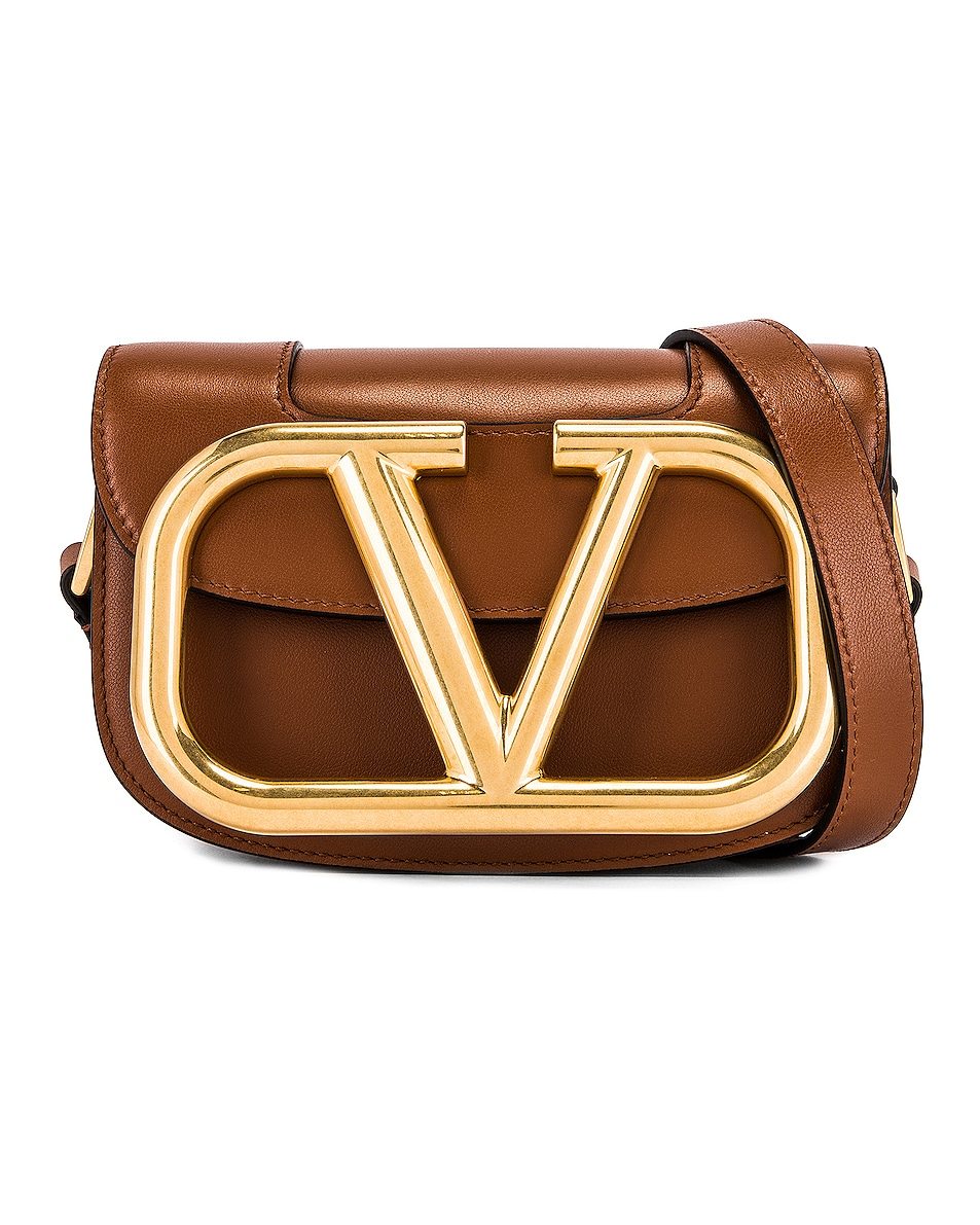 Image 1 of Valentino Small Supervee Shoulder Bag in Selleria