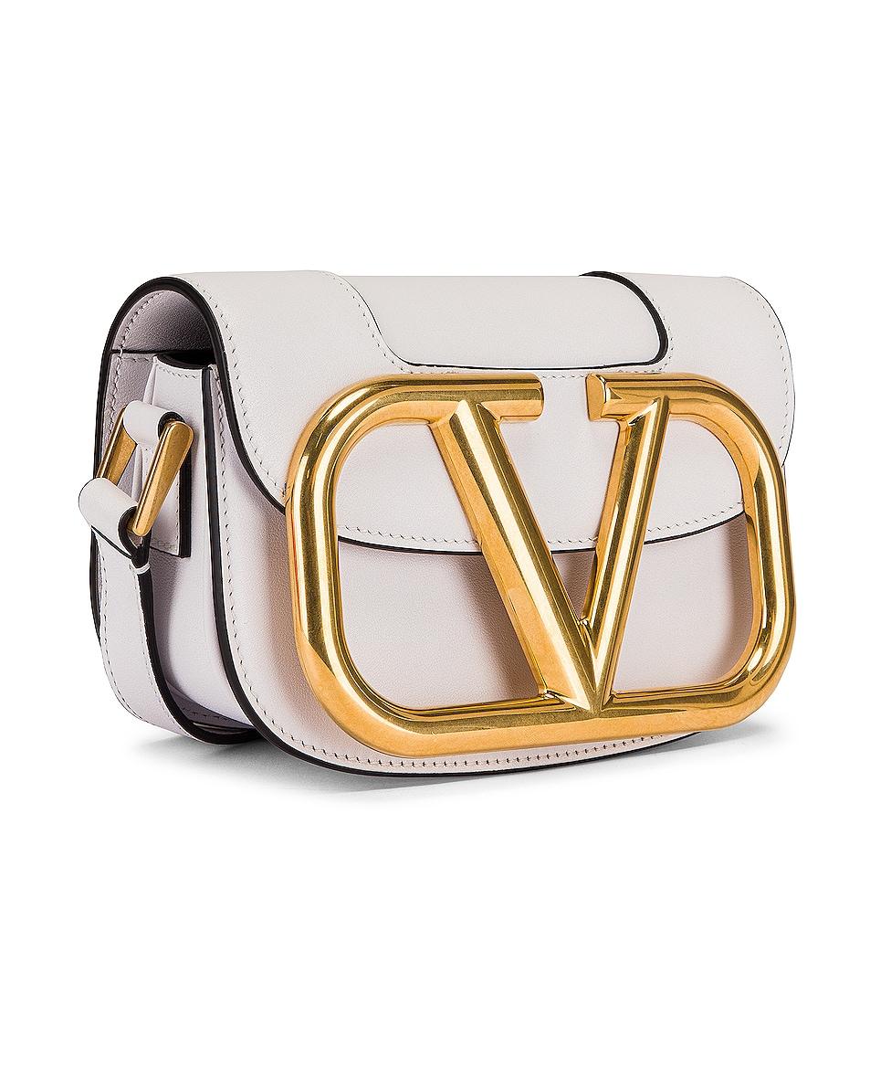 Image 4 of Valentino Small Supervee Shoulder Bag in Bianco Ottico
