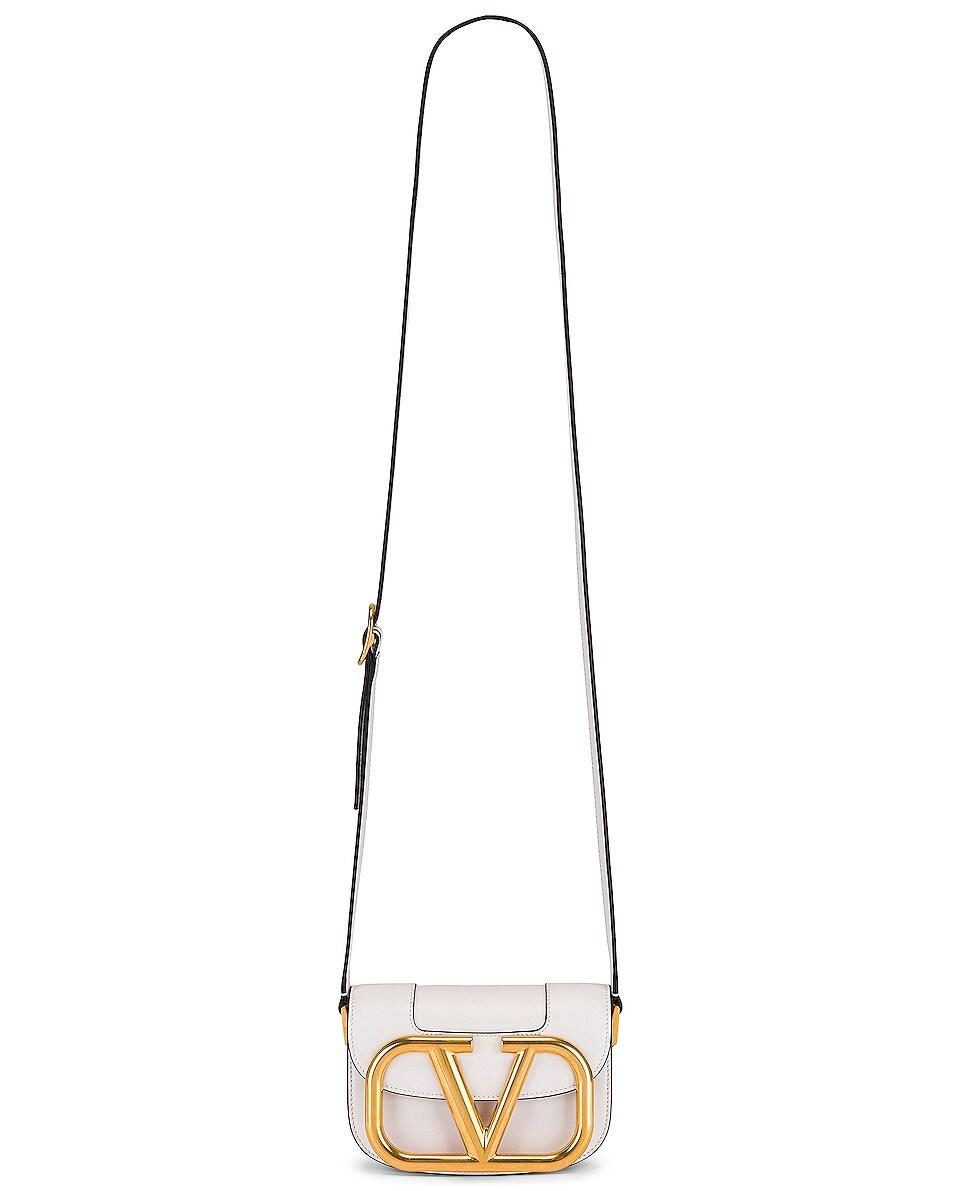 Image 6 of Valentino Small Supervee Shoulder Bag in Bianco Ottico