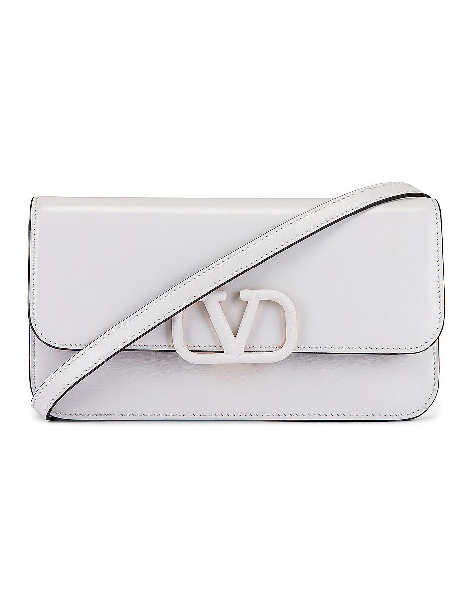 Image 1 of Valentino Vsling Clutch in Bianco Ottico