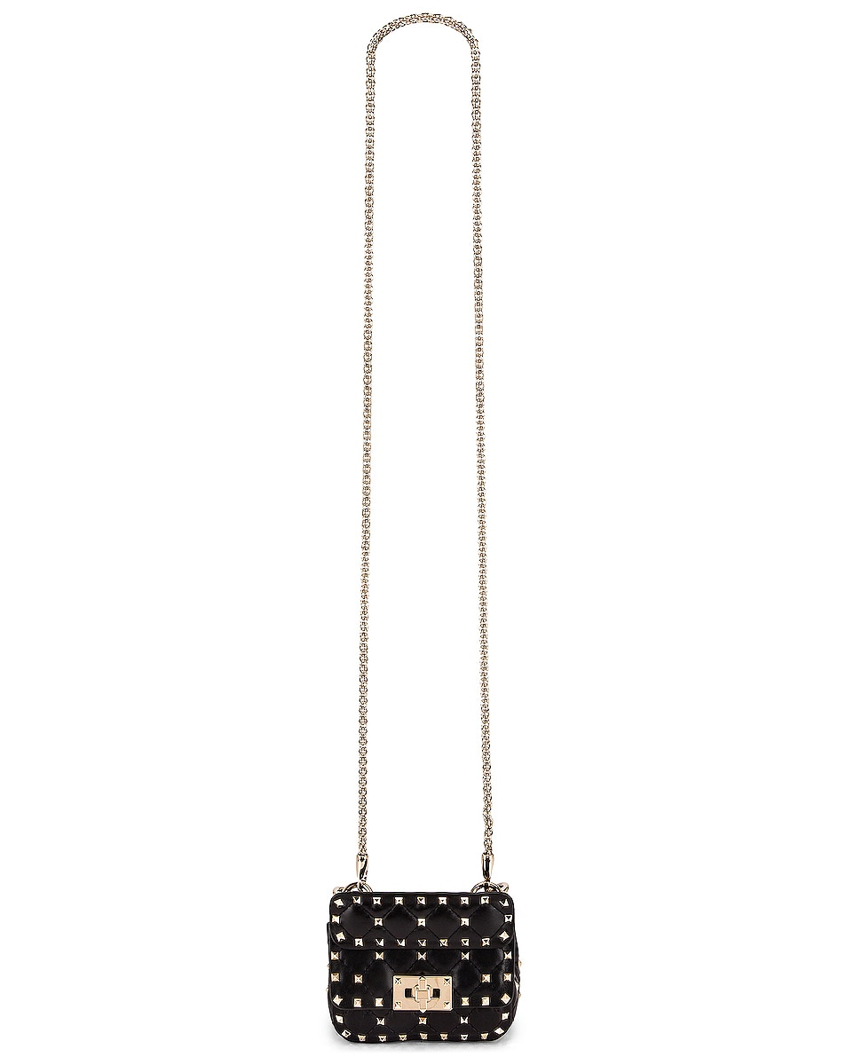 Image 6 of Valentino Micro Rockstud Spike Shoulder Bag in Nero