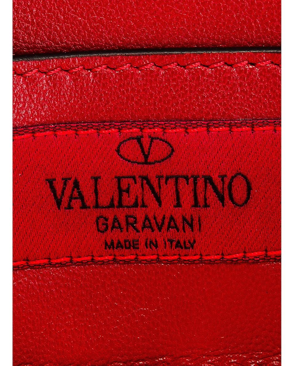 Image 7 of Valentino Micro Rockstud Spike Shoulder Bag in Arancio Fluo