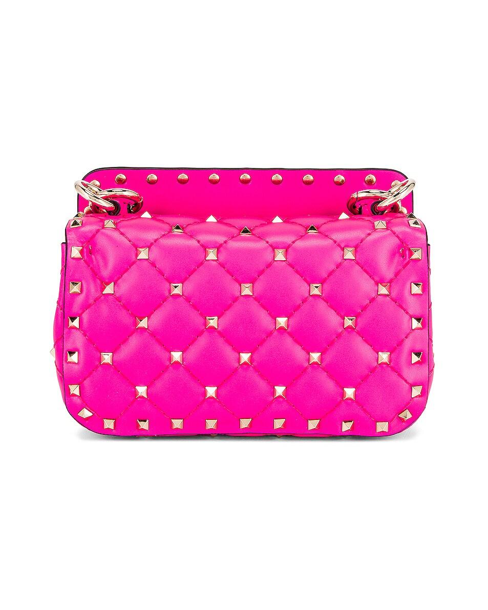 Image 2 of Valentino Mini Rockstud Spike Shoulder Bag in Azalea
