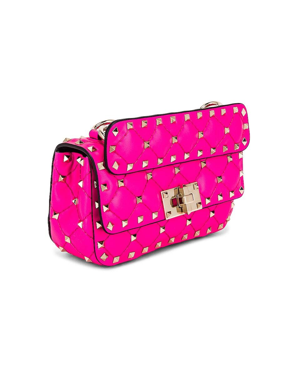 Image 3 of Valentino Mini Rockstud Spike Shoulder Bag in Azalea