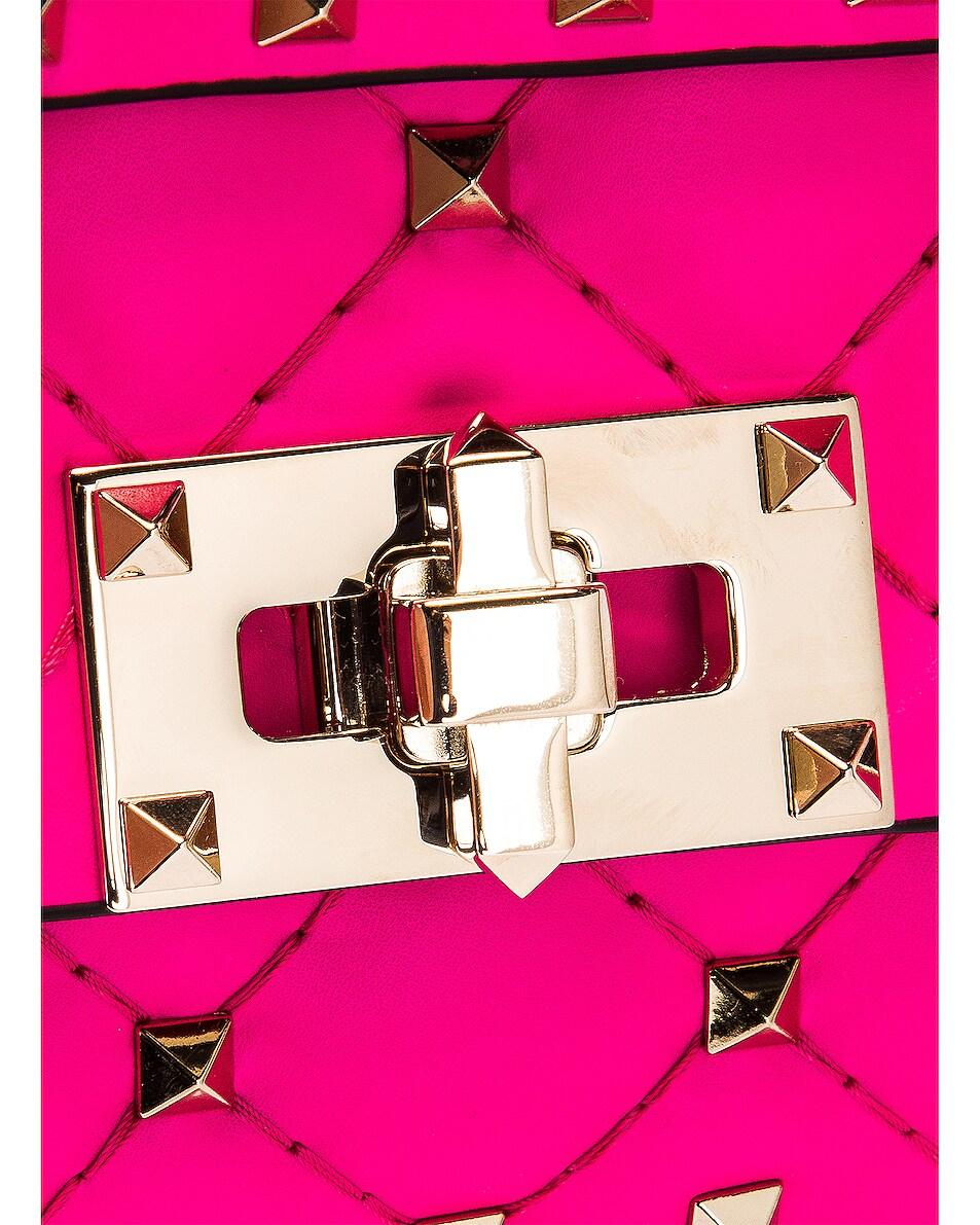 Image 7 of Valentino Mini Rockstud Spike Shoulder Bag in Azalea