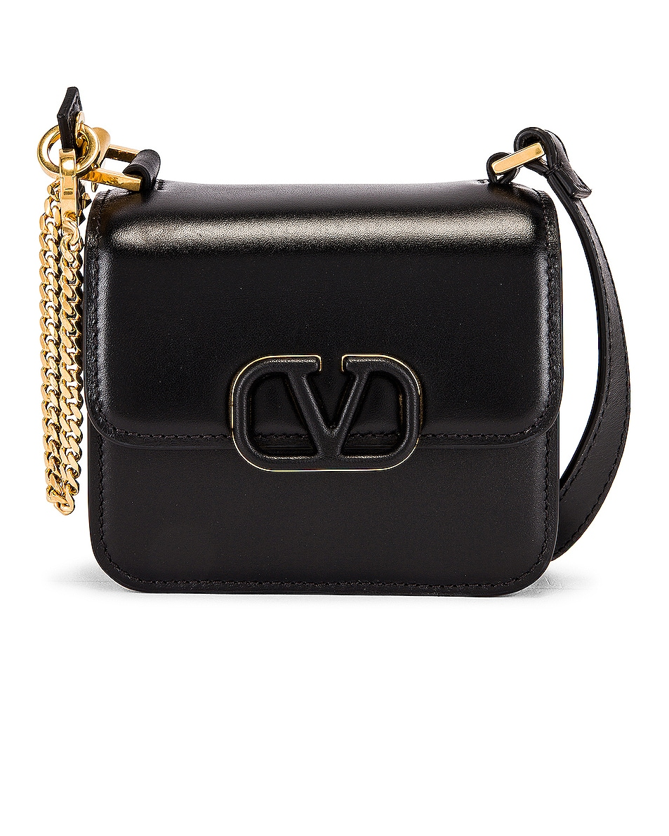 Image 1 of Valentino Micro Vsling Shoulder Bag in Nero