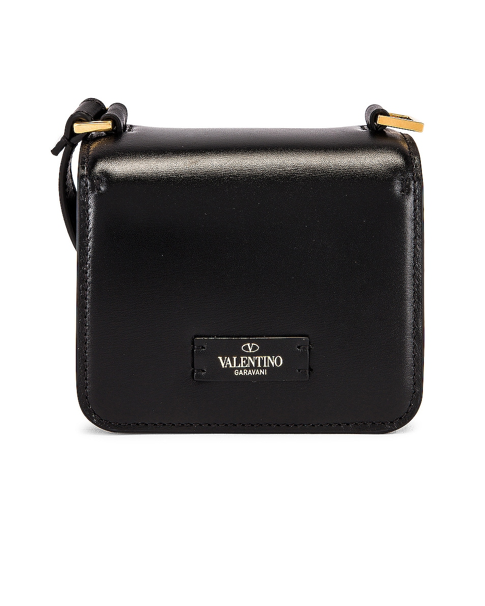 Image 3 of Valentino Micro Vsling Shoulder Bag in Nero