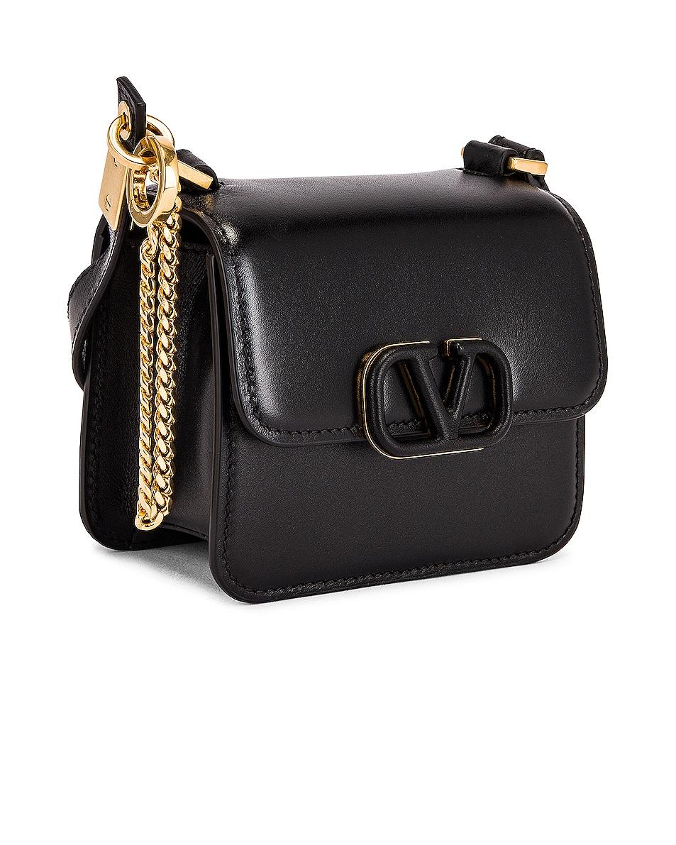Image 4 of Valentino Micro Vsling Shoulder Bag in Nero