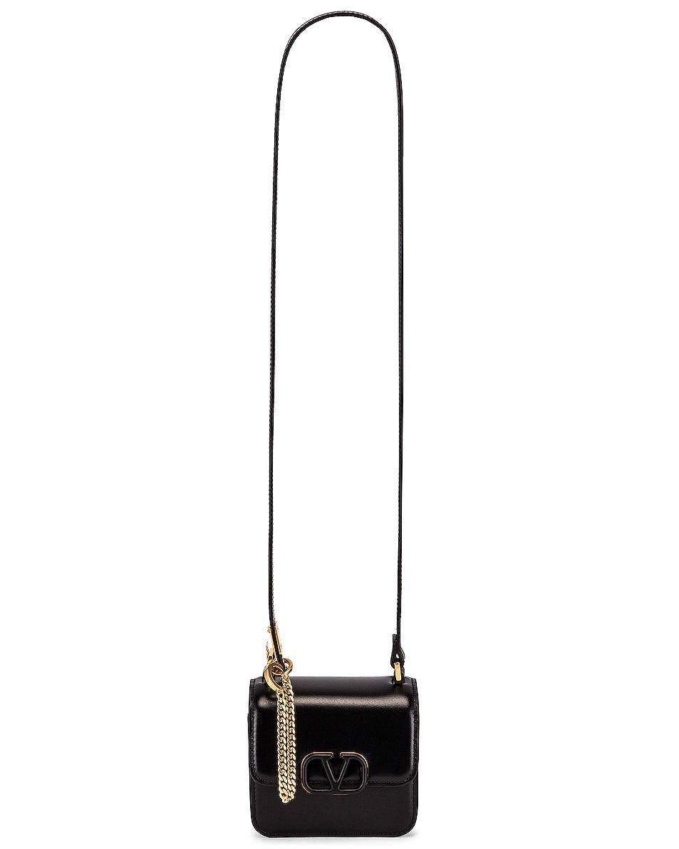 Image 6 of Valentino Micro Vsling Shoulder Bag in Nero