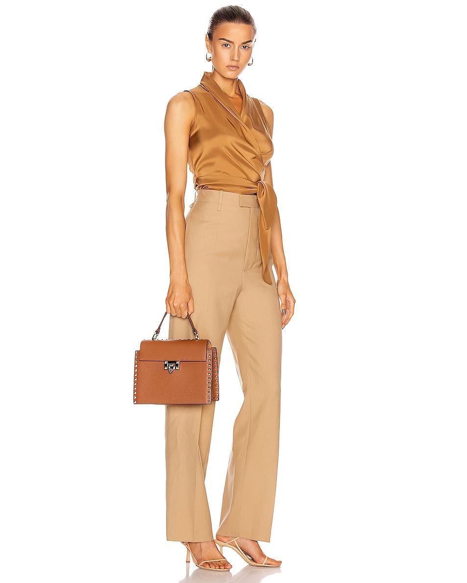Image 2 of Valentino Rockstud Top Handle Bag in Selleria